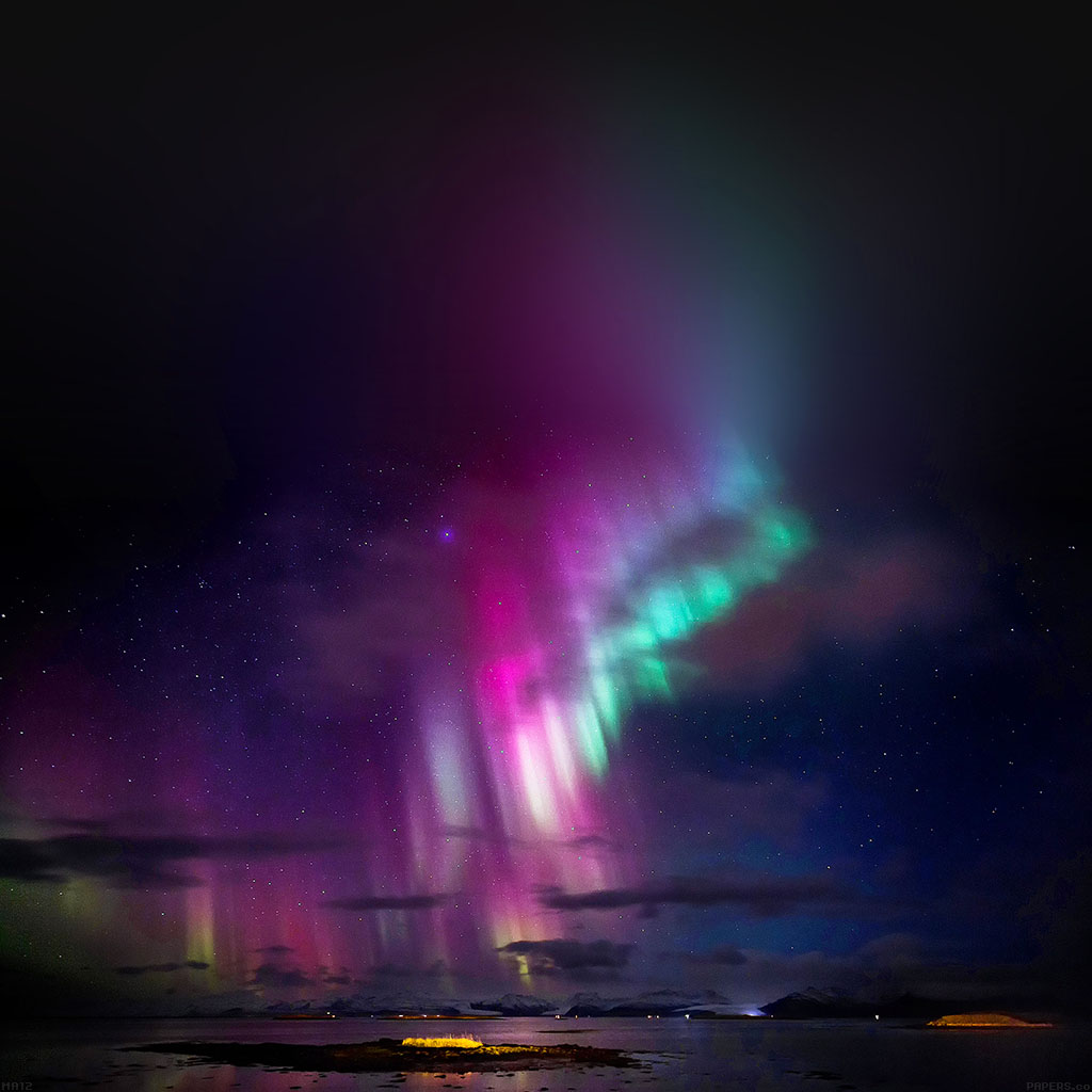 Papersco Android Wallpaper Ma12 Aurora Trippy Sky Nature