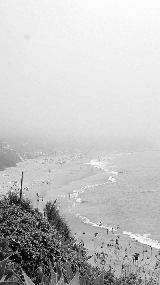 freeios8.com-iphone-4-5-6-ipad-ios8-ma15-bw-beach-b-sea-nature