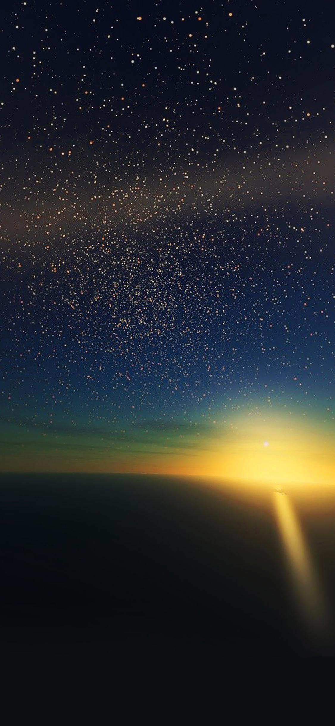 iPhoneXpapers.com-Apple-iPhone-wallpaper-ma35-stars-shine-horizon-space-sky-nature