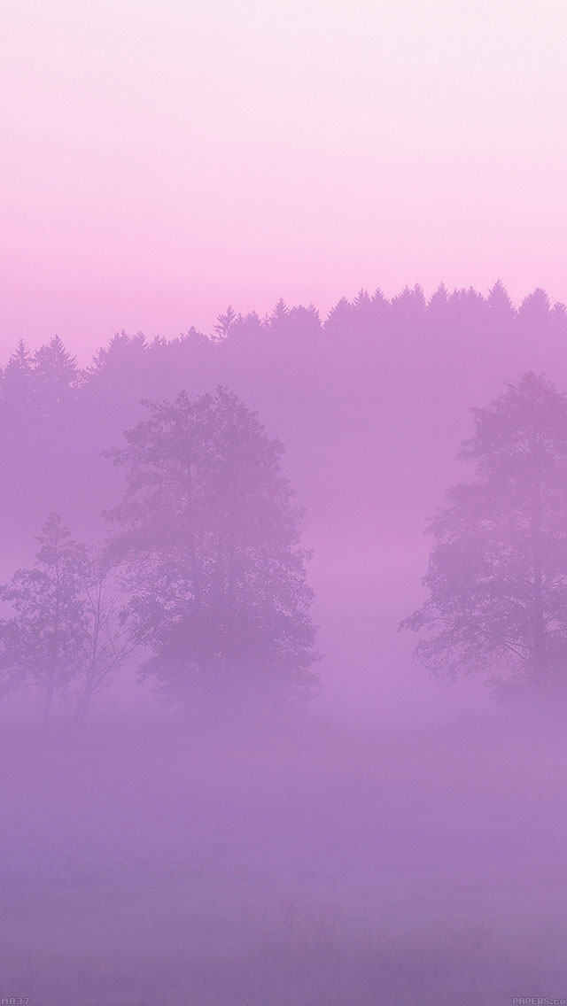 freeios8.com-iphone-4-5-6-ipad-ios8-ma37-misty-pink-forest-mountain-nature