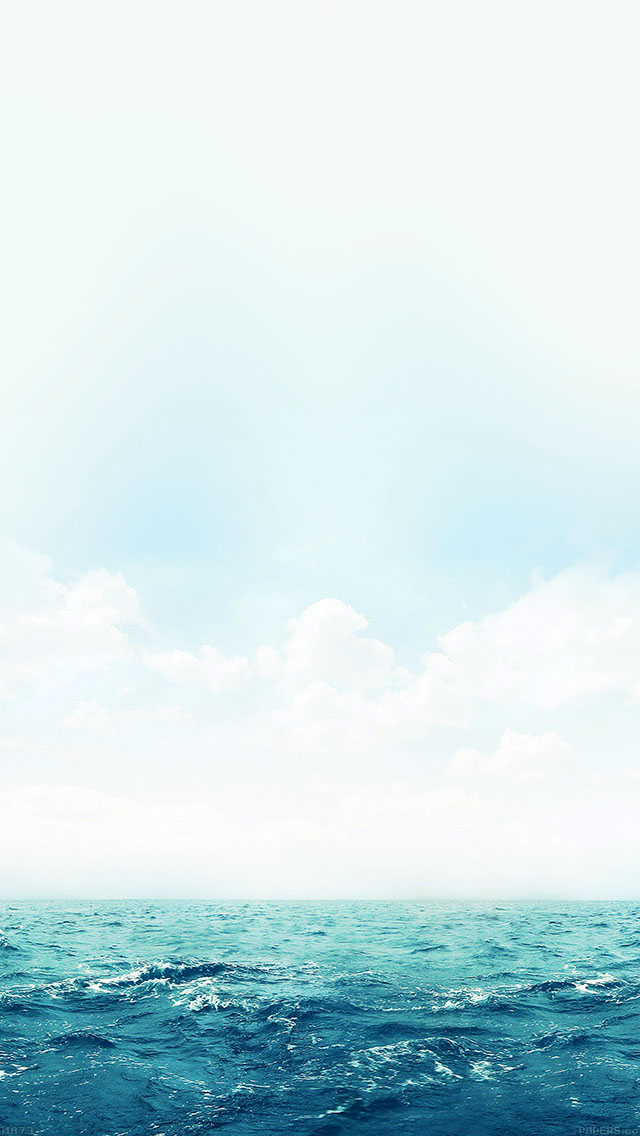 freeios8.com-iphone-4-5-6-ipad-ios8-ma73-ocean-green-sky-blue-sea-nature