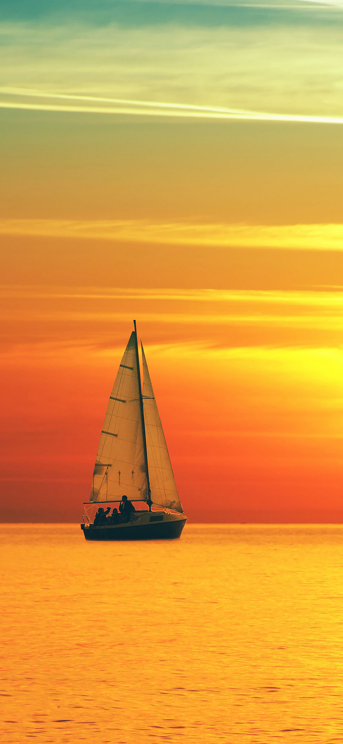 iPhoneXpapers.com-Apple-iPhone-wallpaper-ma76-boat-at-sunset-sea-nature