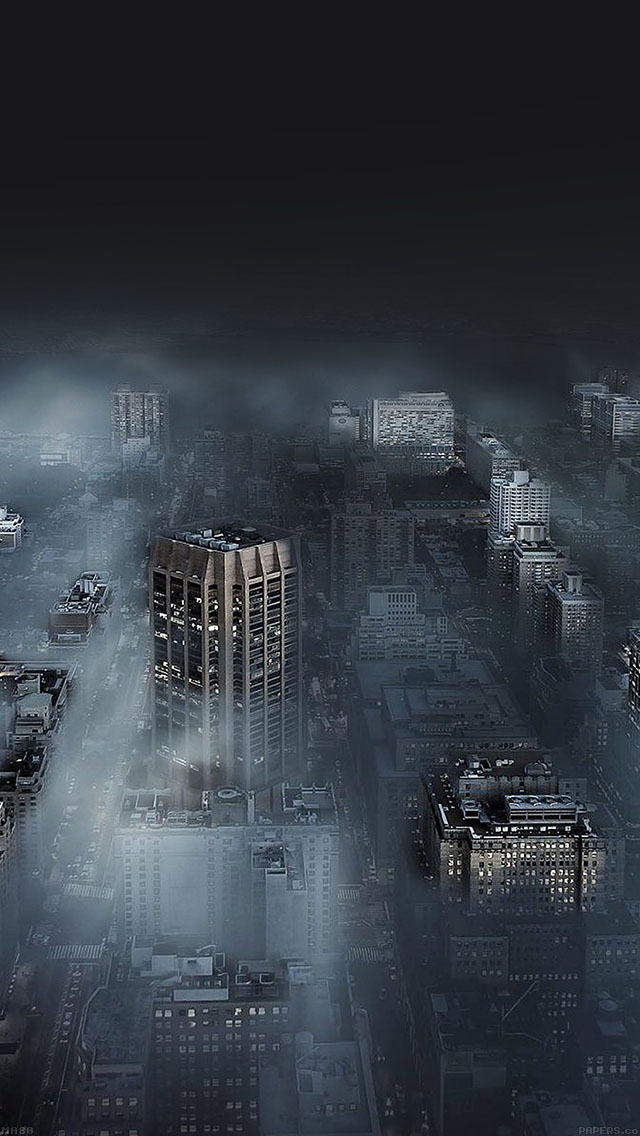 freeios8.com-iphone-4-5-6-ipad-ios8-ma80-dark-city-in-fog-nature