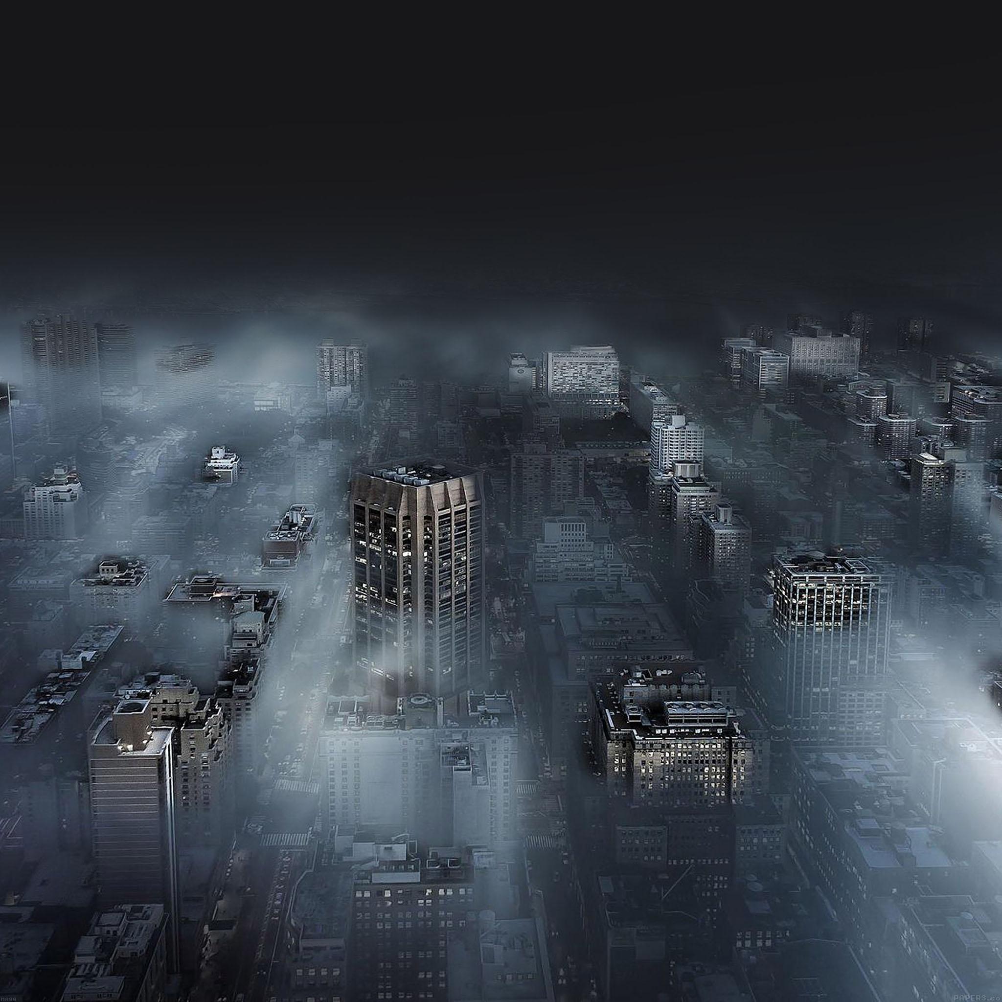 Ma80-dark-city-in-fog-nature-wallpaper