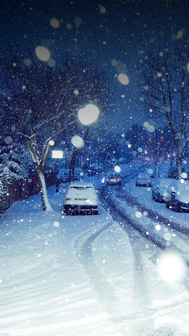 freeios8.com-iphone-4-5-6-ipad-ios8-ma94-snowy-blue-road-winter-nature