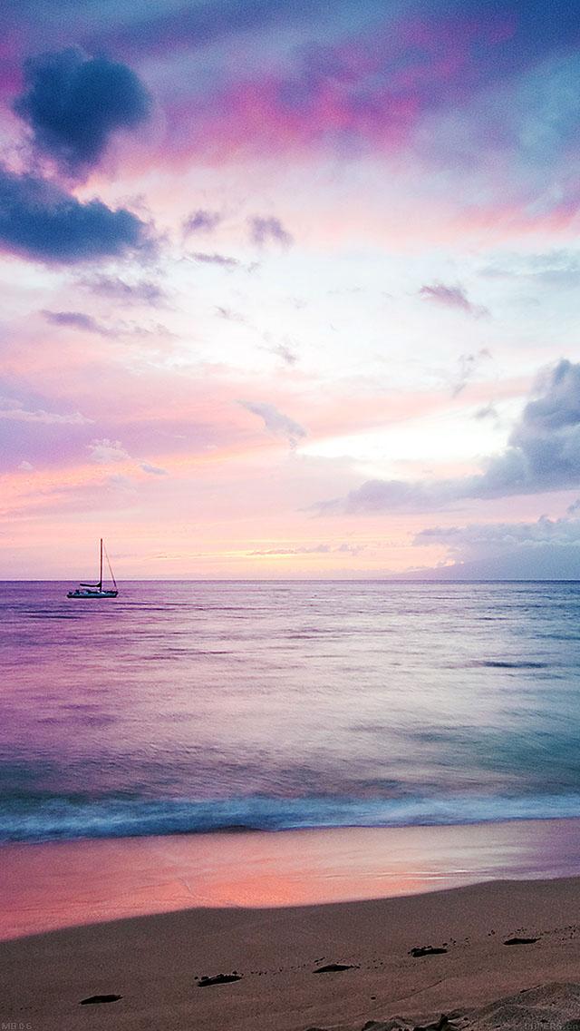 freeios8.com-iphone-4-5-6-ipad-ios8-mb06-wallpaper-dreamy-sea-boat-beach