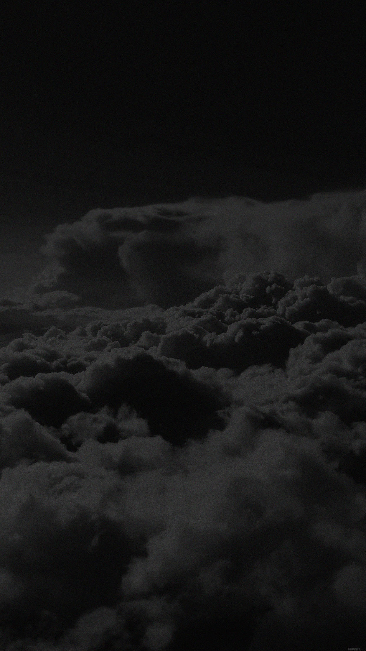 Iphone Black And White Clouds Wallpaper