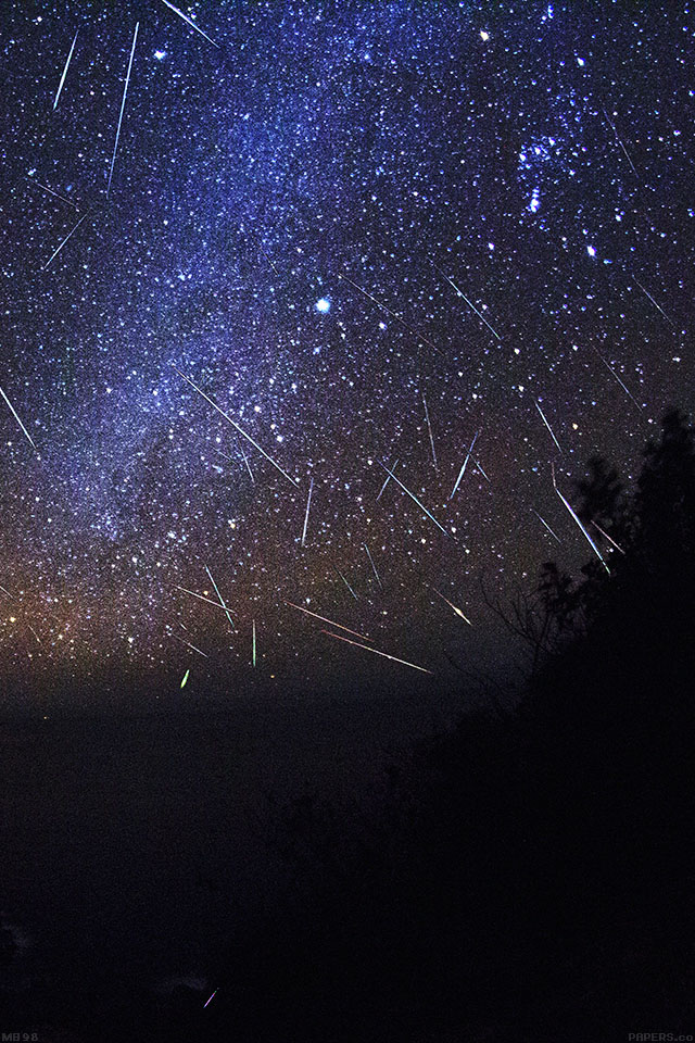 Freeios7 Mb98 Wallpaper Meteor Shower Sky Night Parallax