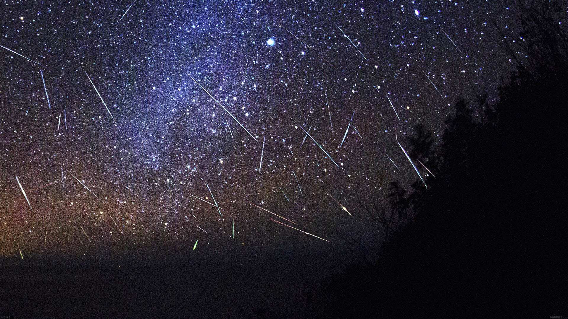 Desktoppapers Co Mb98 Wallpaper Meteor Shower Sky Night