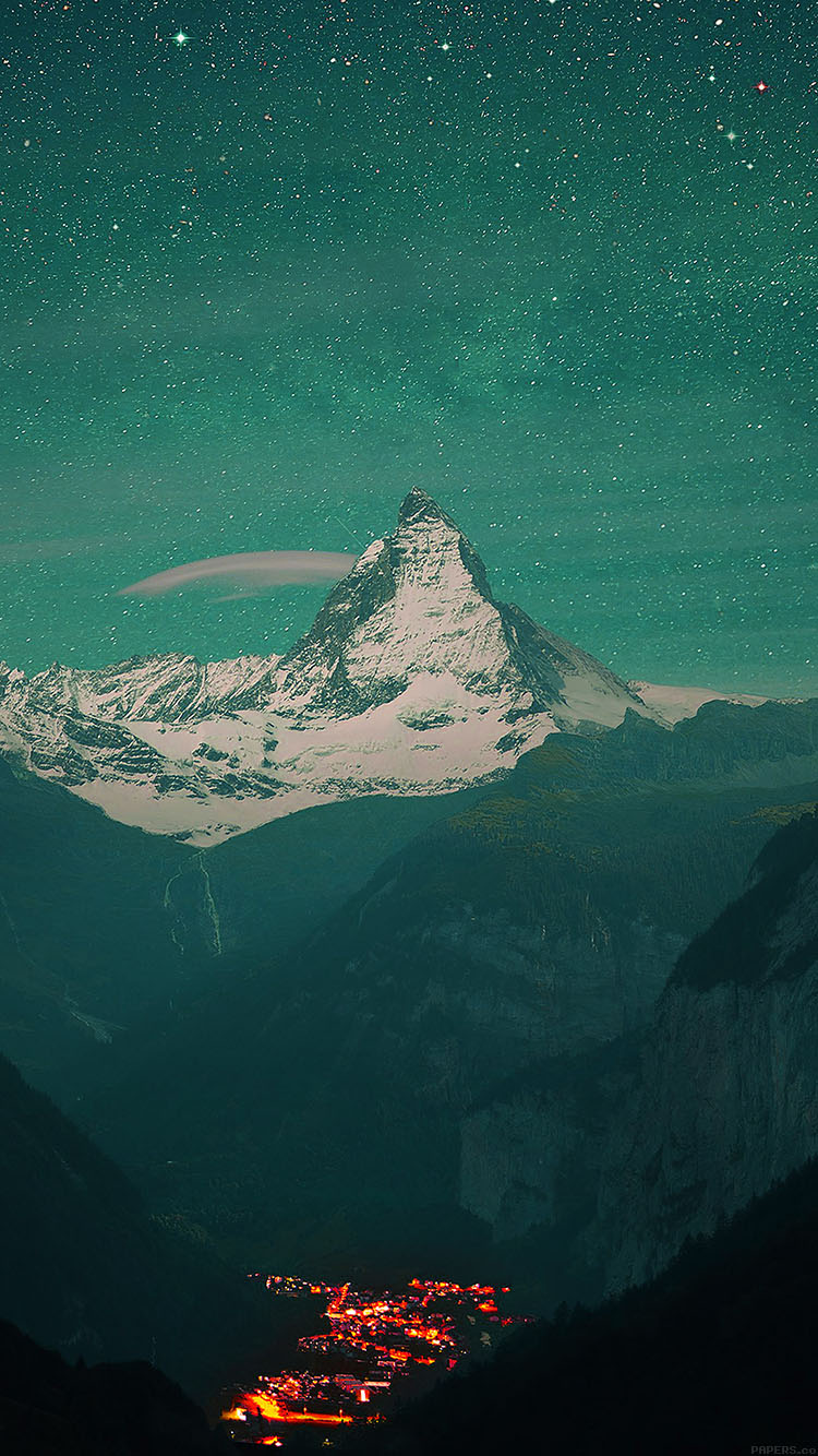iPhonepapers.com-Apple-iPhone8-wallpaper-mc05-wallpaper-green-night-mountain