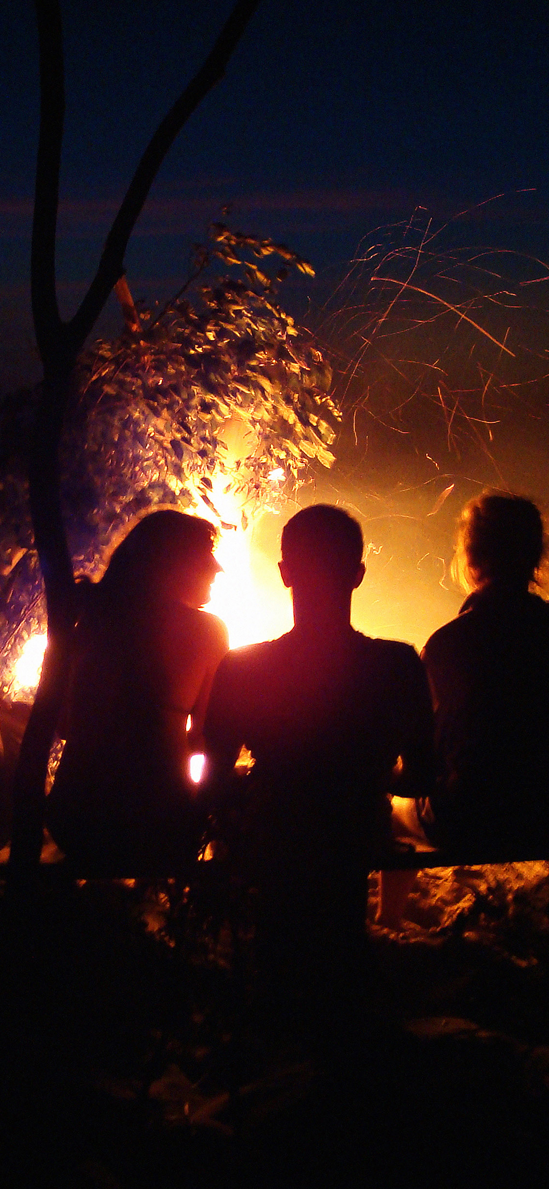 mc07-wallpaper-beach-bonfire-night-camp - Papers.co