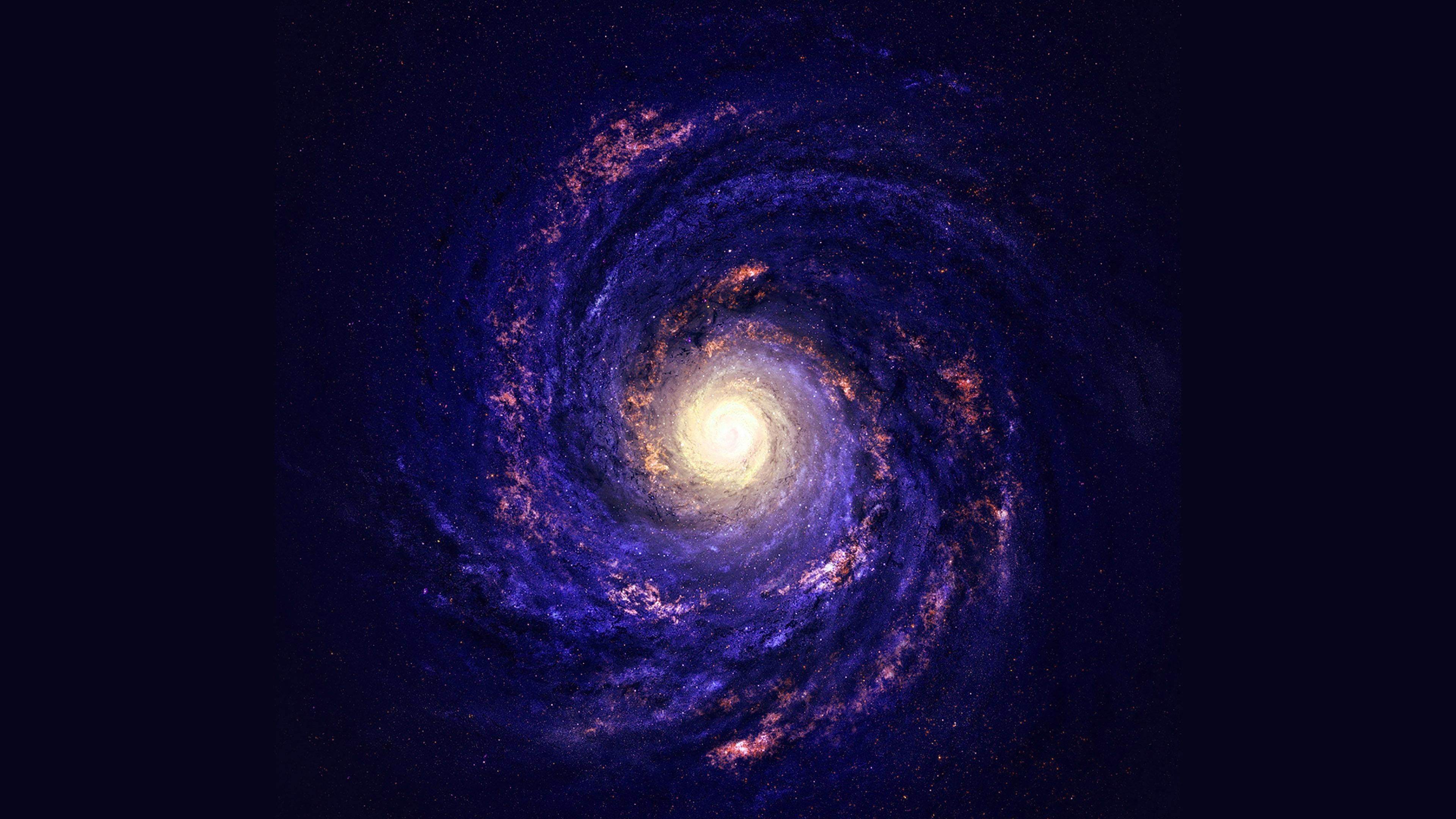 papers.co mc42 wallpaper space galaxy stars milky way blue 35 3840x2160 4k wallpaper