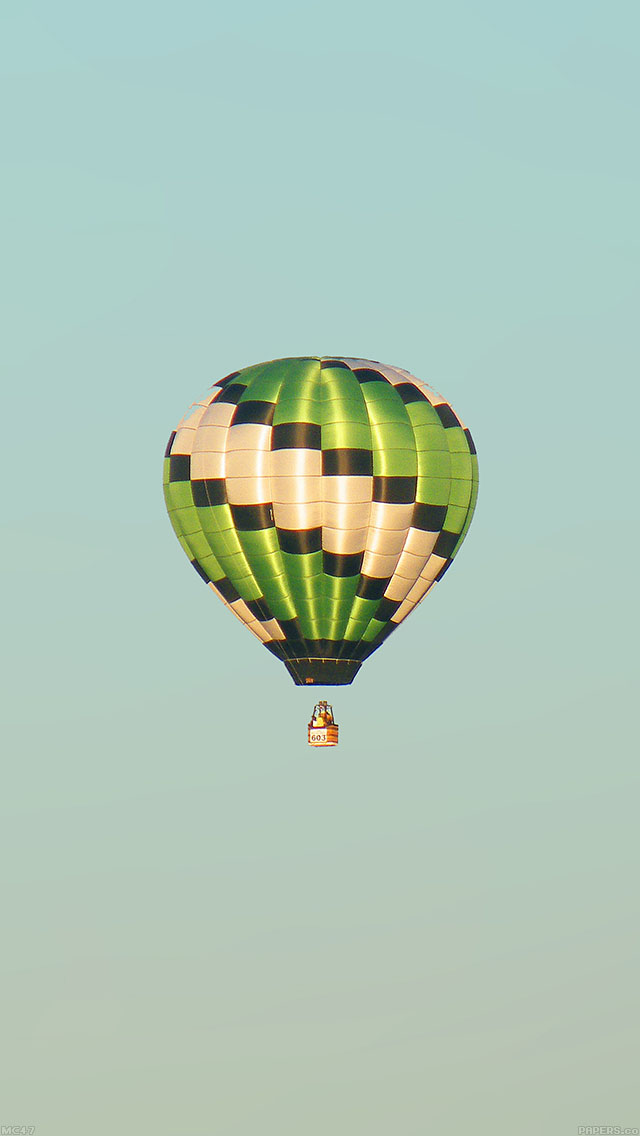 freeios8.com-iphone-4-5-6-ipad-ios8-mc47-wallpaper-fly-green-home-balloon