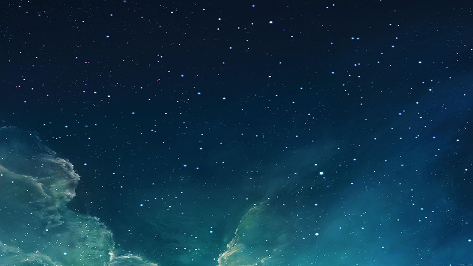 Mc56 Wallpaper Galaxy Blue 7 Starry Star Sky Wallpaper