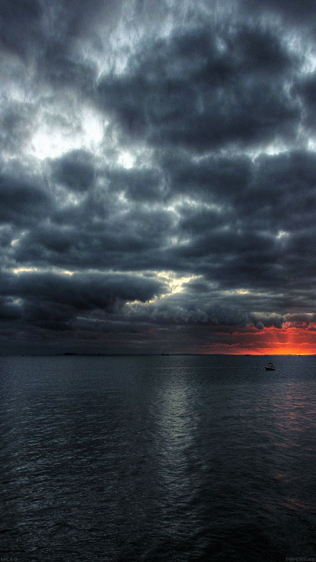 freeios8.com-iphone-4-5-6-ipad-ios8-mc60-wallpaper-dark-sea-storm-night-ocean