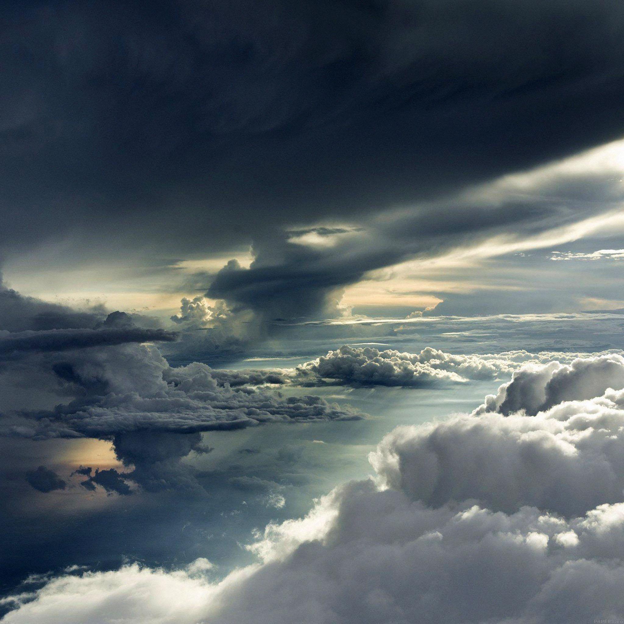 Best Iphone X Wallpapers: Mc83-wallpaper-between-storm-clouds-sky-wallpaper