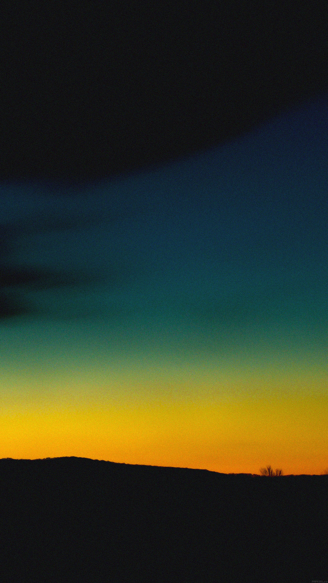 Iphone6papers Mc95 Wallpaper Orange Green Sky Sunset Nature