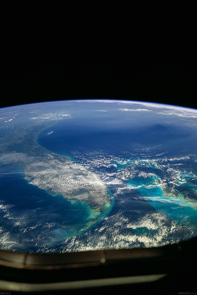 Freeios7 md02 wallpaper alien view of earth space - Space iphone wallpaper retina ...