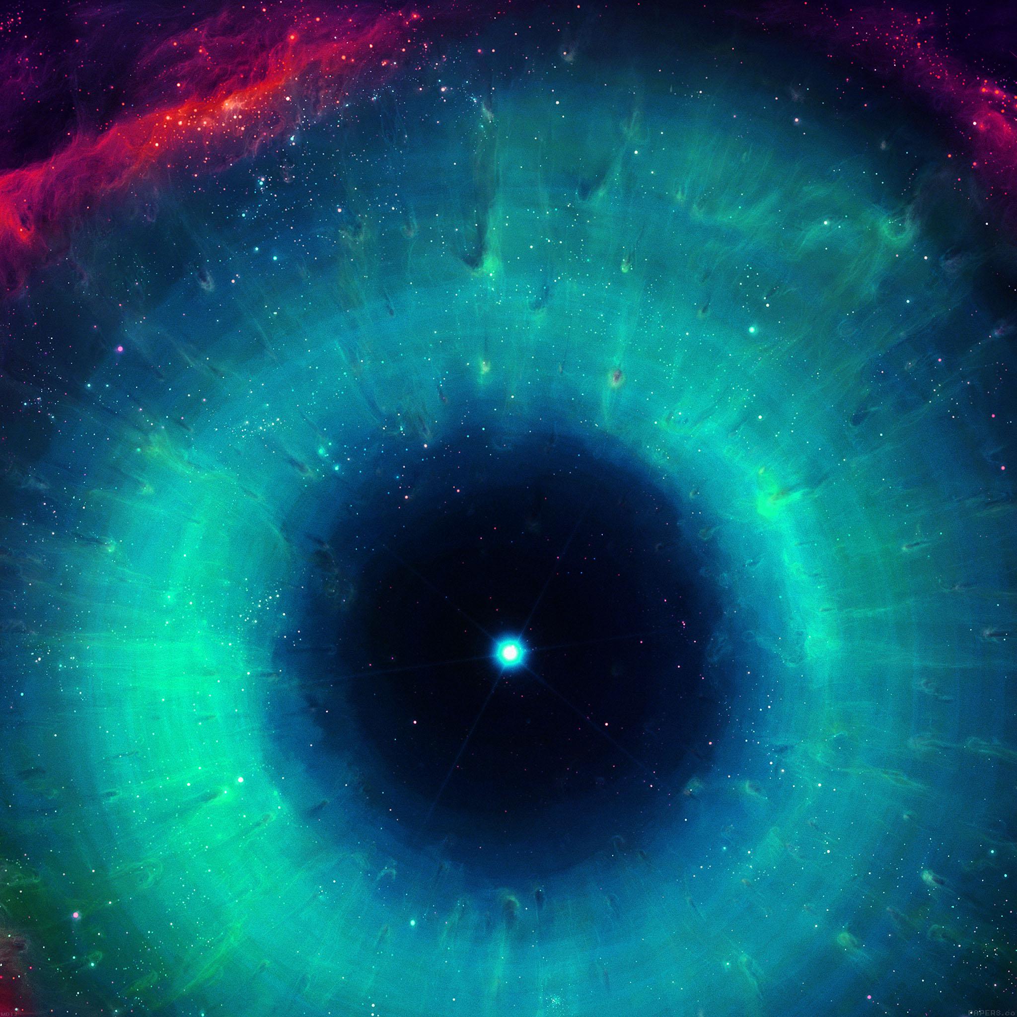 Iphone Wallpaper: Md12-wallpaper-galaxy-eye-center-gren-space-stars