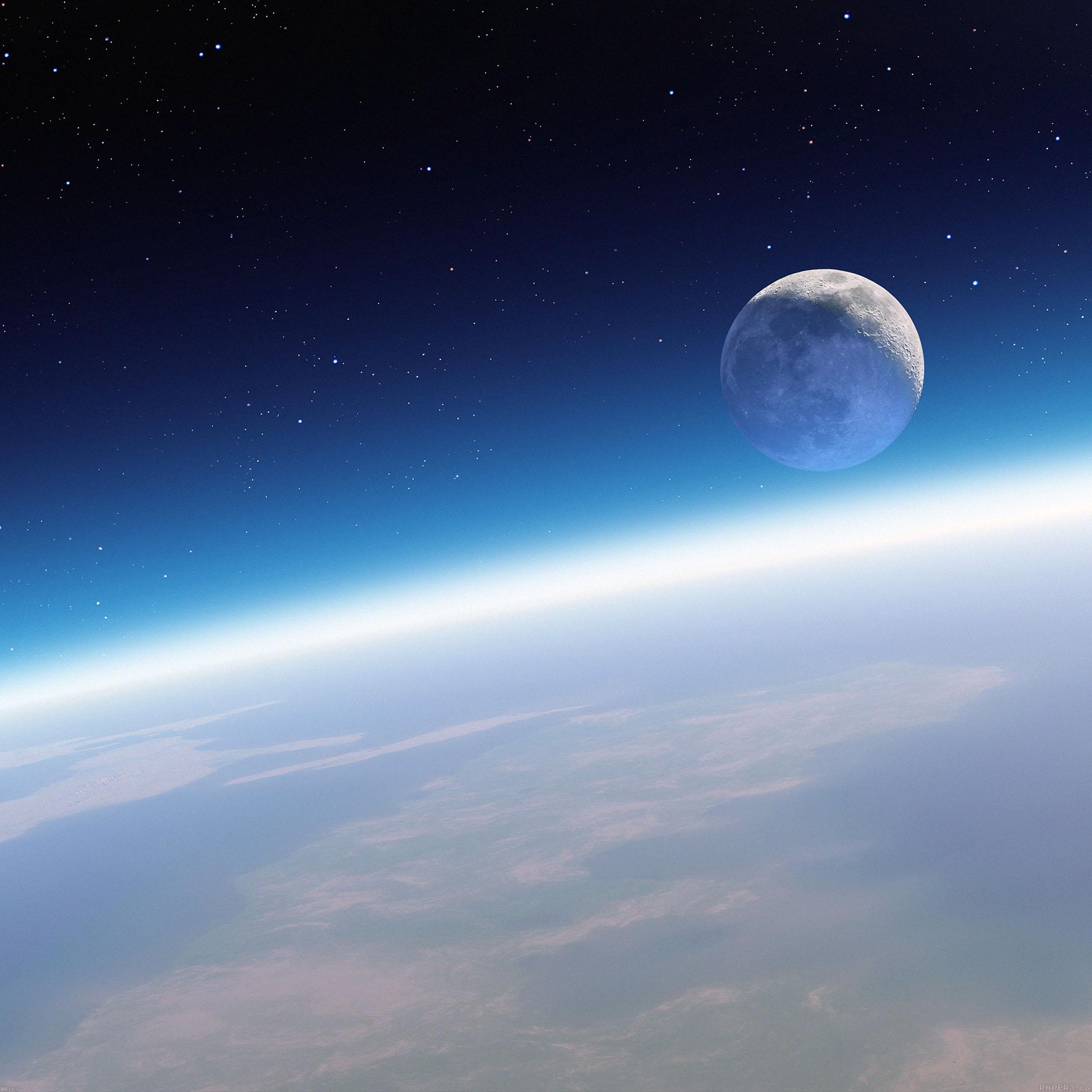 Desktop Wallpaper Earth From Space: Md13-wallpaper-earth-horizon-in-space