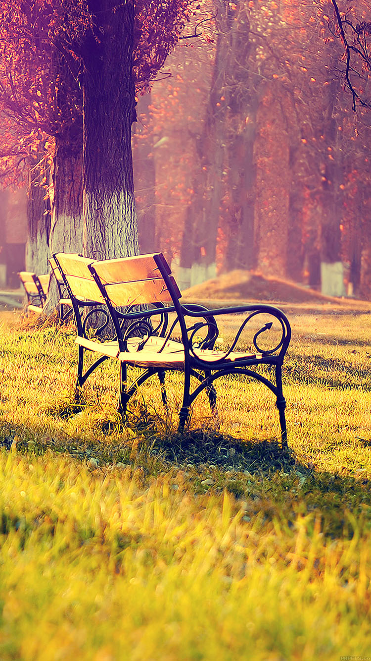iPhone6papers.co-Apple-iPhone-6-iphone6-plus-wallpaper-md15-wallpaper-fall-park-chair-lonely-nature