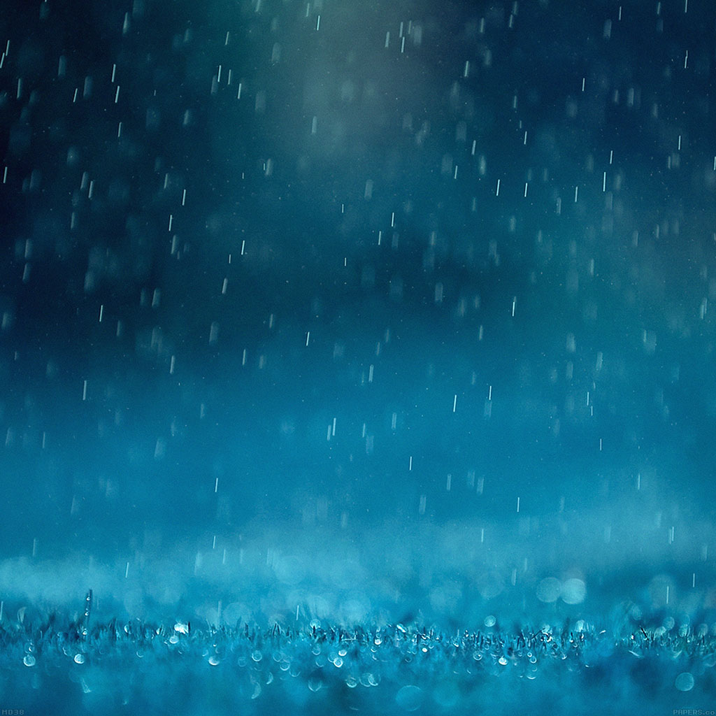 wallpaper rain blue hearts - photo #37