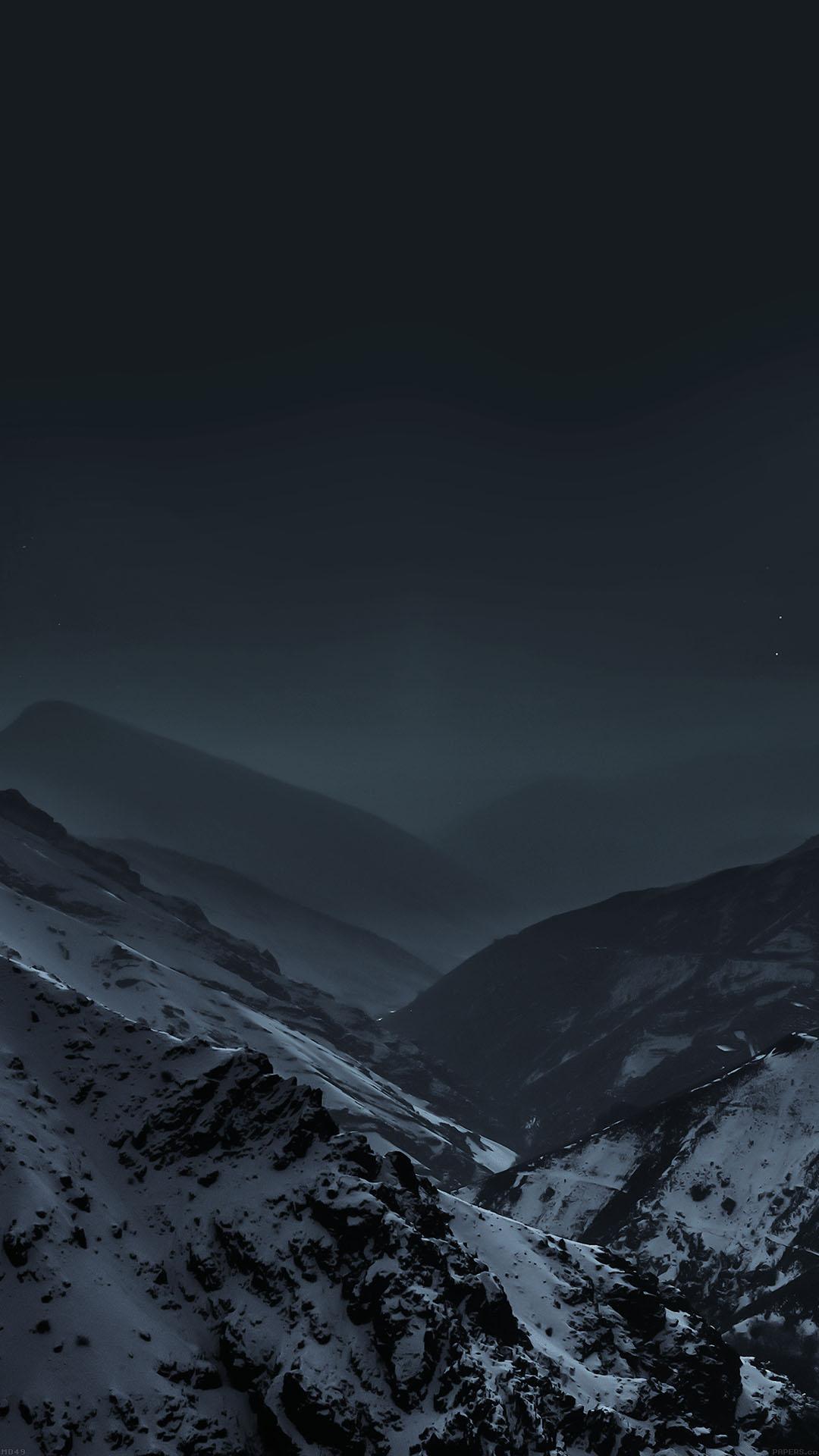 Md49 Wallpaper Nature Earth Dark Asleep Mountain Night Wallpaper