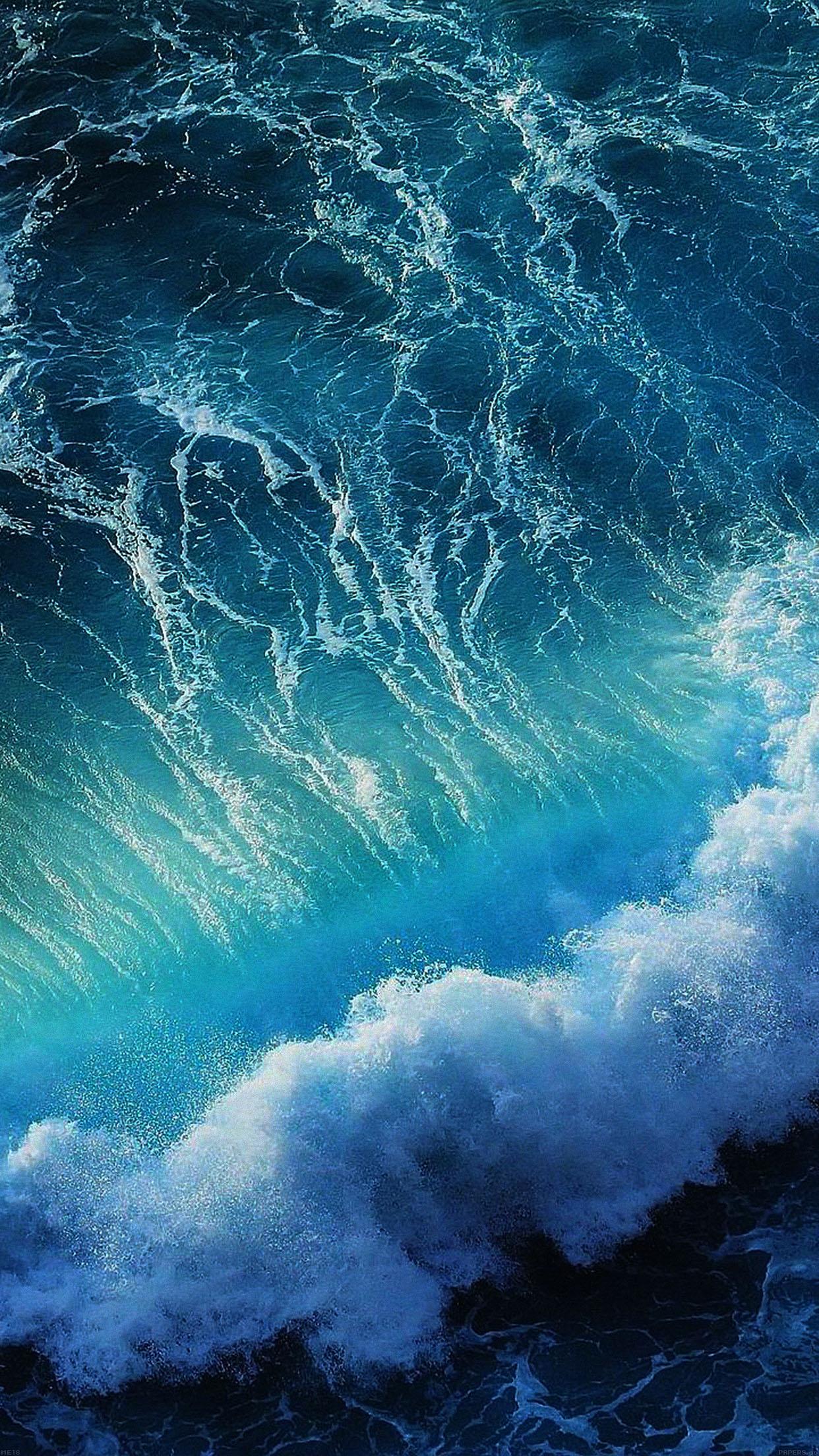 Iphone7papers Me18 Wave California Ocean