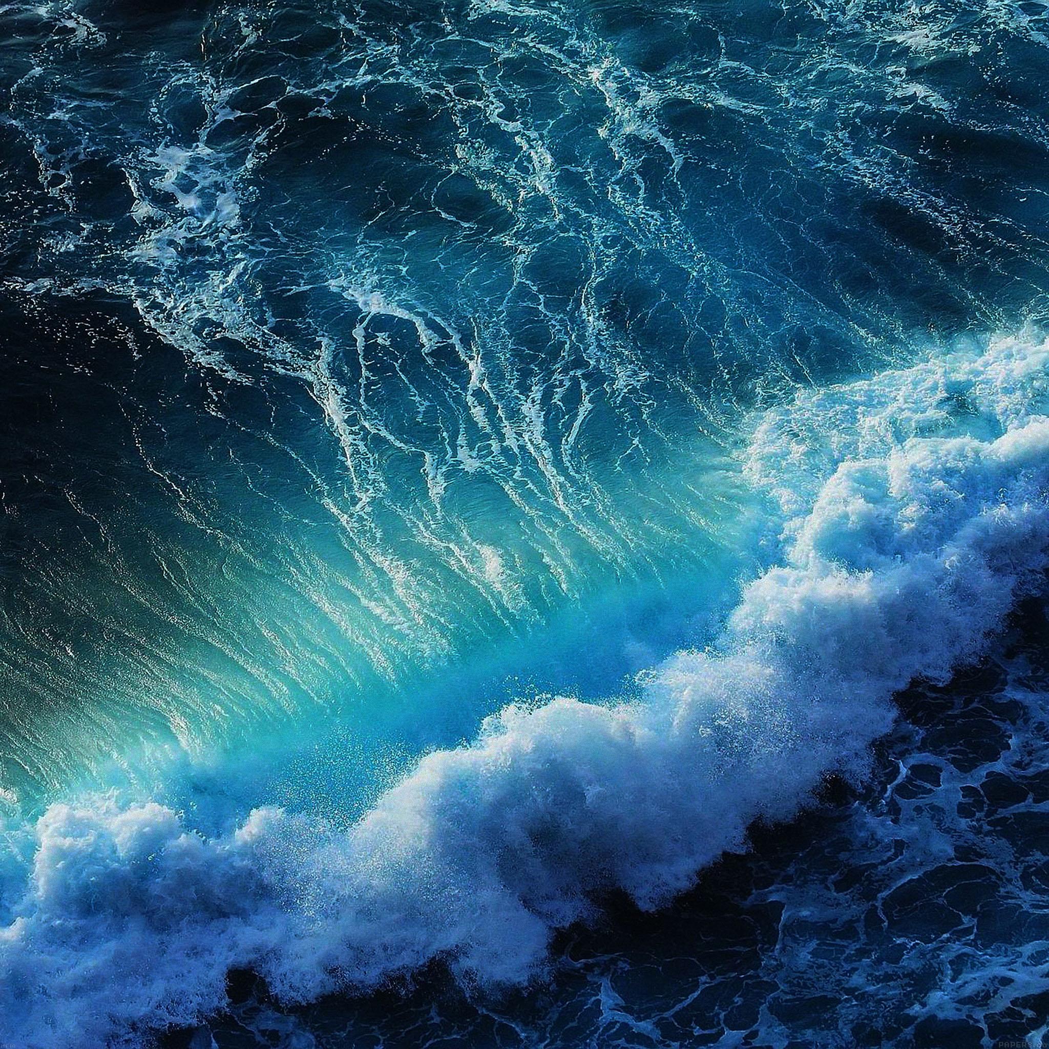 Hd Ocean Wallpaper: Me18-wave-california-ocean - Parallax HD IPhone