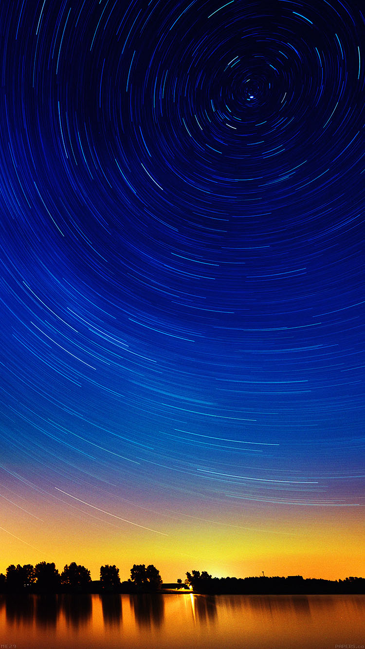 Papers.co-iPhone5-iphone6-plus-wallpaper-me29-star-gazing-night-on-red-lake