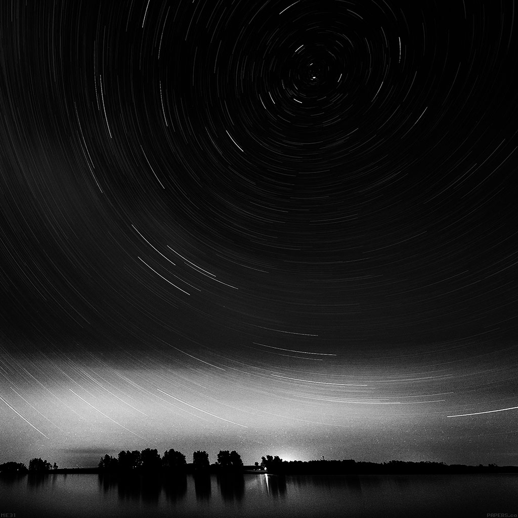 android-wallpaper-me31-star-gazing-night-bw-wallpaper