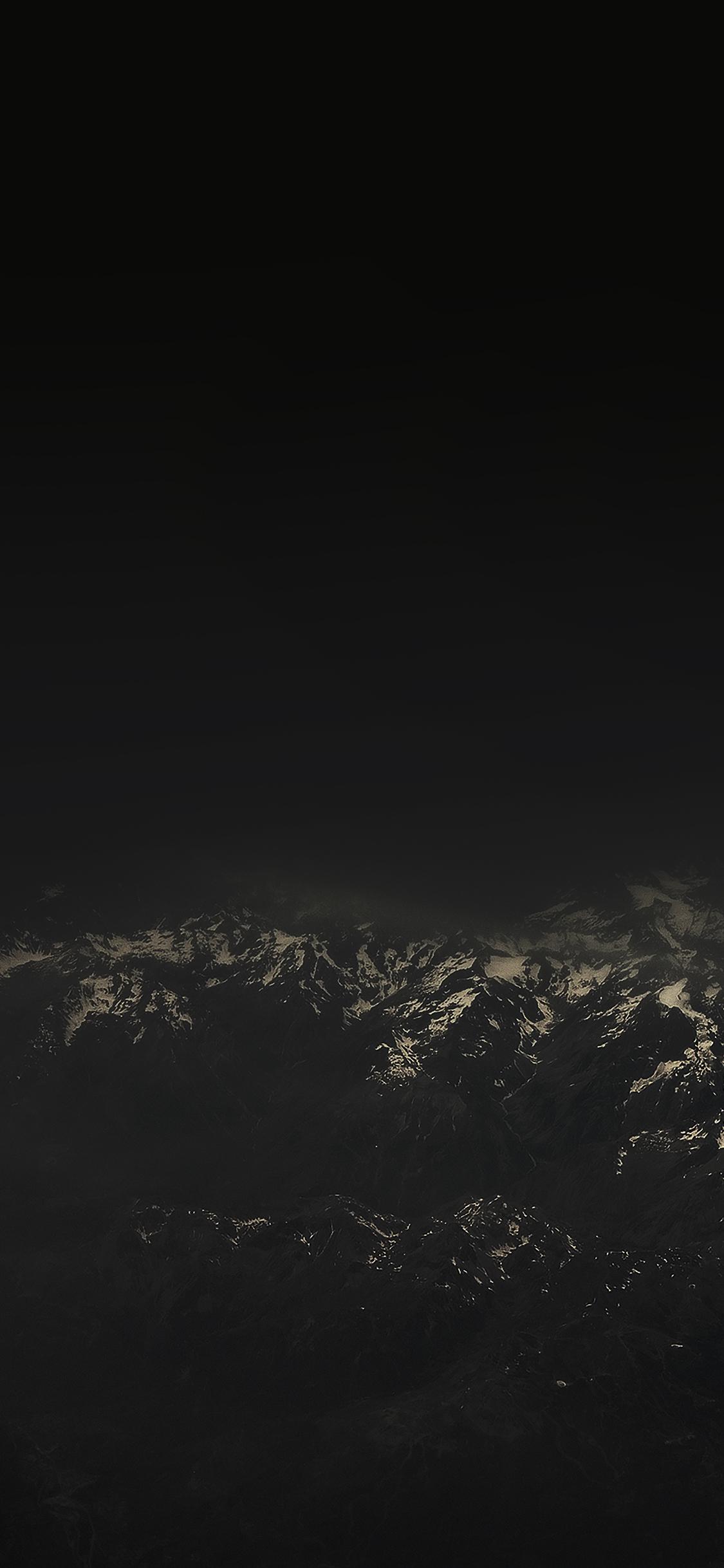 Me49 The Alps Dark Mountain Sky View Wallpaper