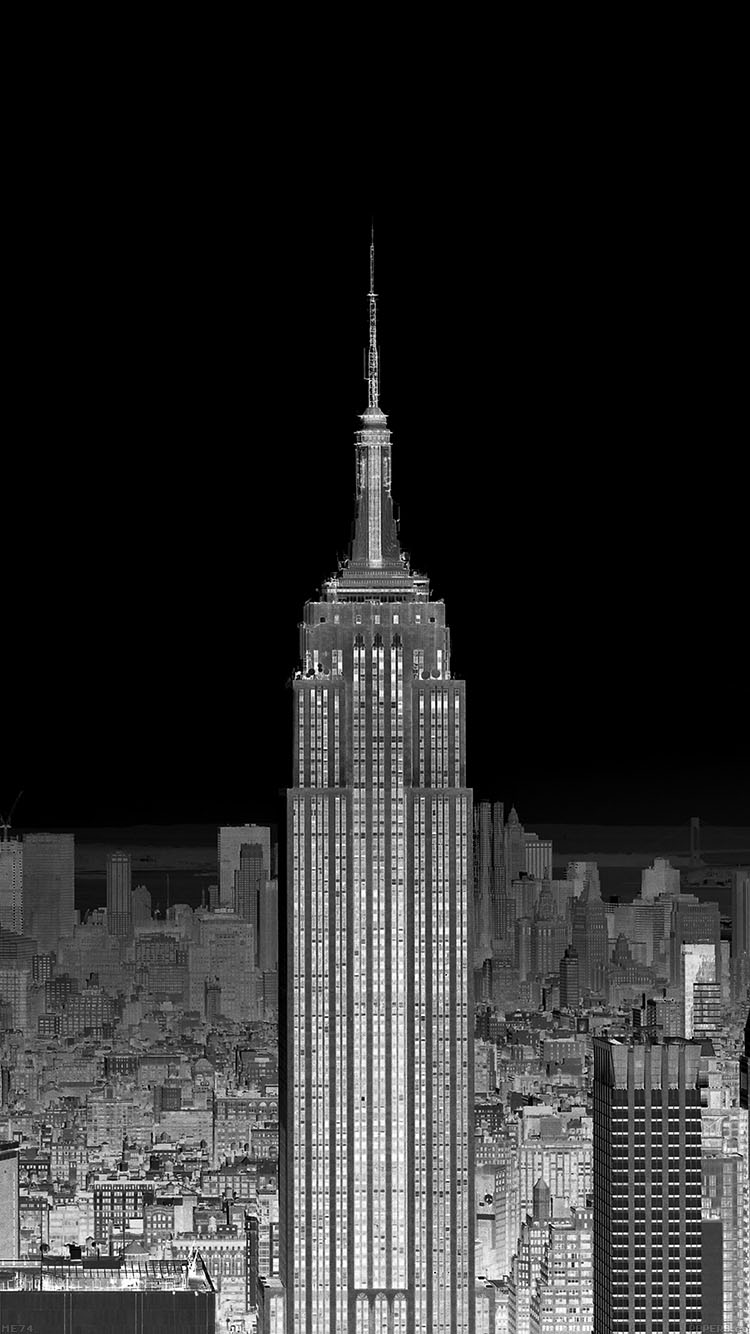 Papers Co Iphone Wallpaper Me74 Dusk Night New York Skyline City