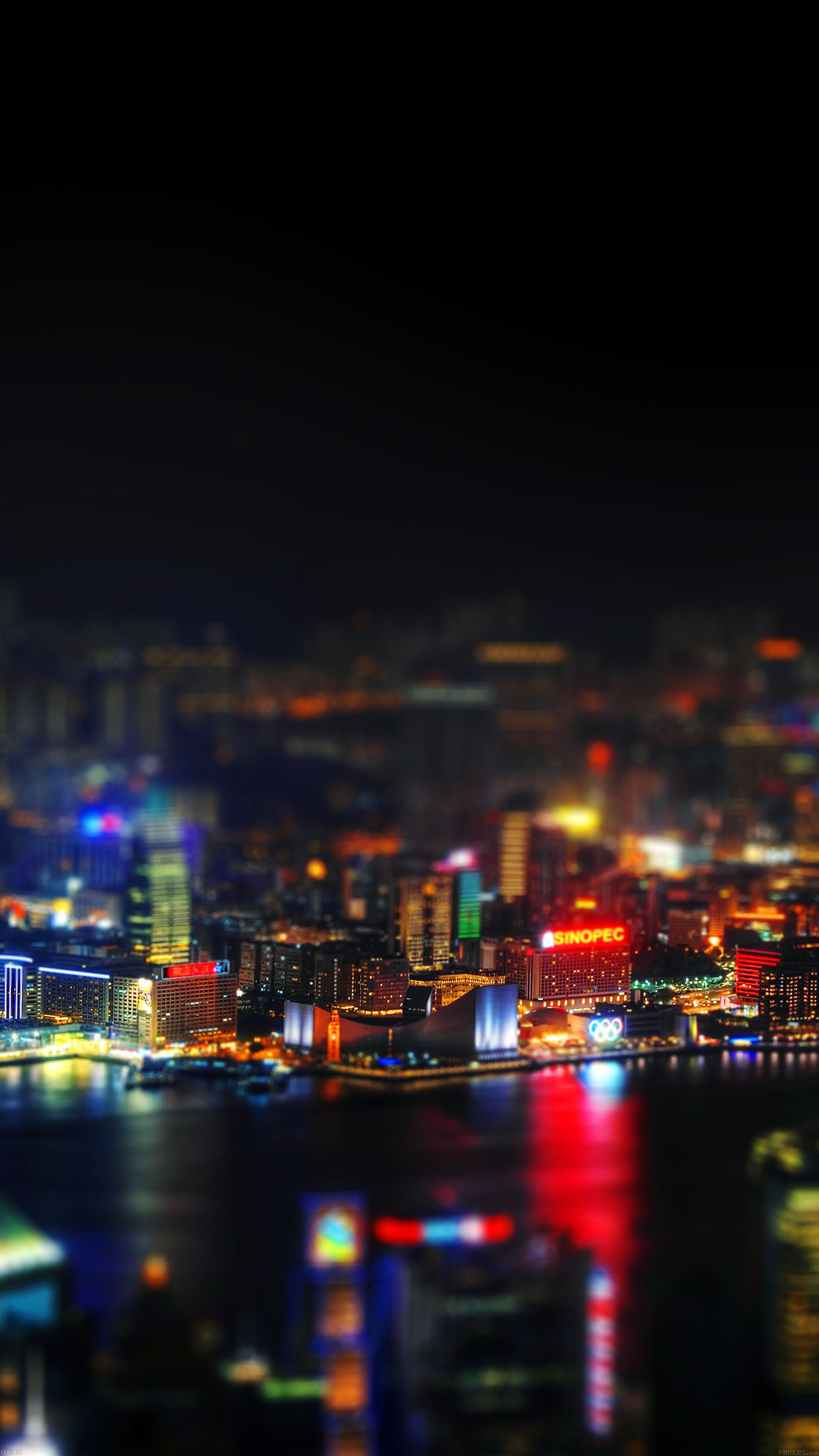 Iphone6papers Me92 Hongkong Night Cityscapes Lights