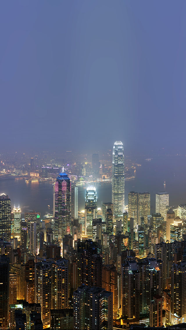 freeios8.com-iphone-4-5-6-ipad-ios8-me96-skyline-hongkong-city-night-live