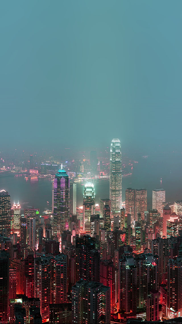 freeios8.com-iphone-4-5-6-plus-ipad-ios8-me97-skyline-hongkong-fire-city-night-live