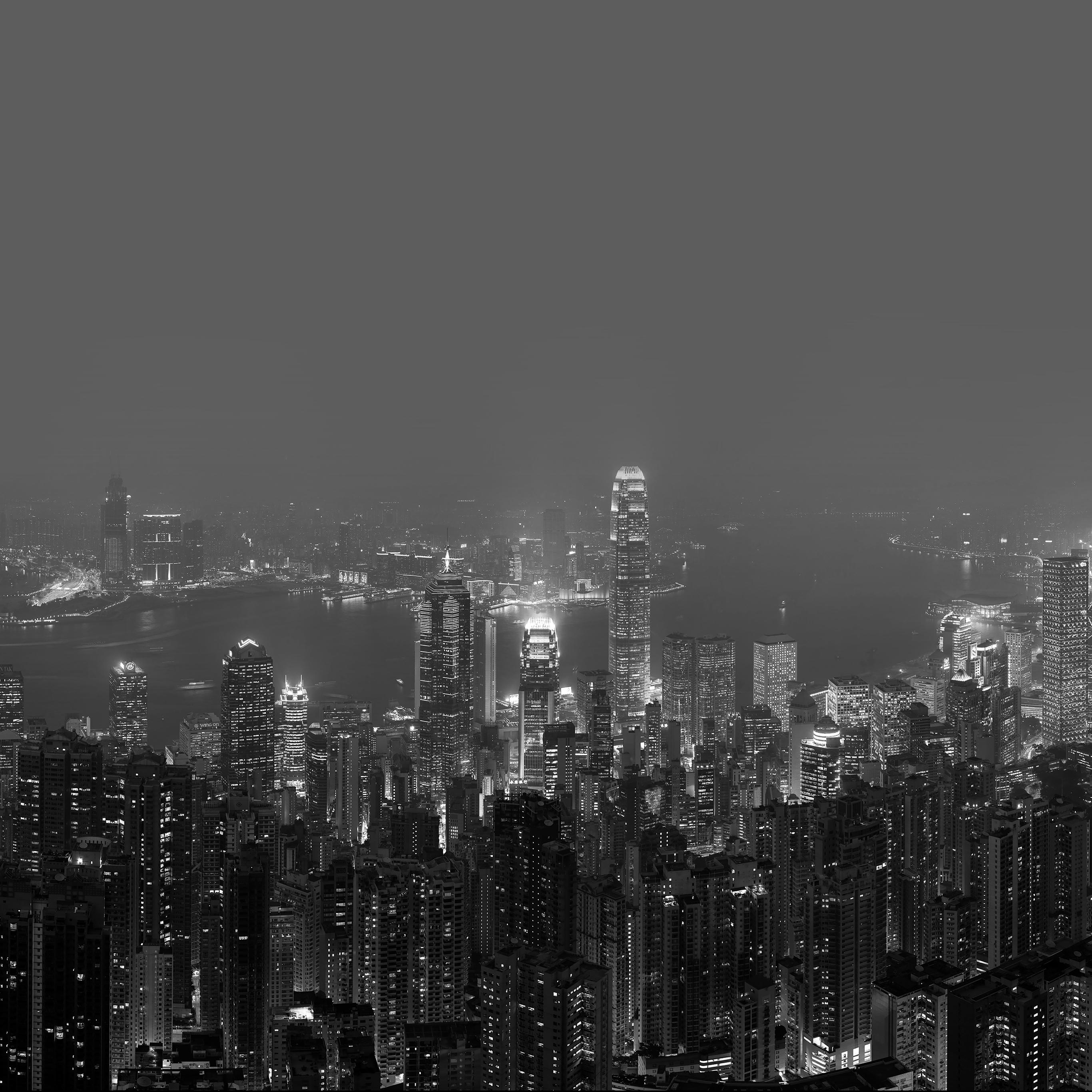 Me98 Skyline Hongkong Dark City Night Live Papers Co