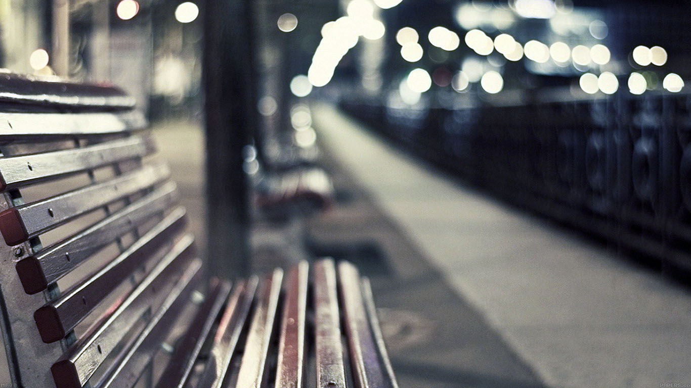 iPapers.co-Apple-iPhone-iPad-Macbook-iMac-wallpaper-mf78-street-chair-melancholy-night-lights-bokeh-city-wallpaper