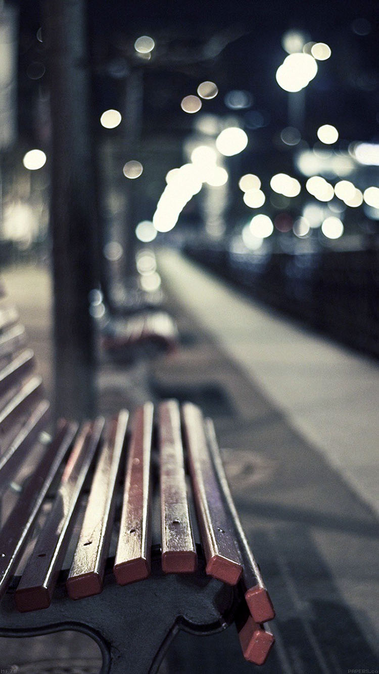 iPhone6papers.co-Apple-iPhone-6-iphone6-plus-wallpaper-mf78-street-chair-melancholy-night-lights-bokeh-city