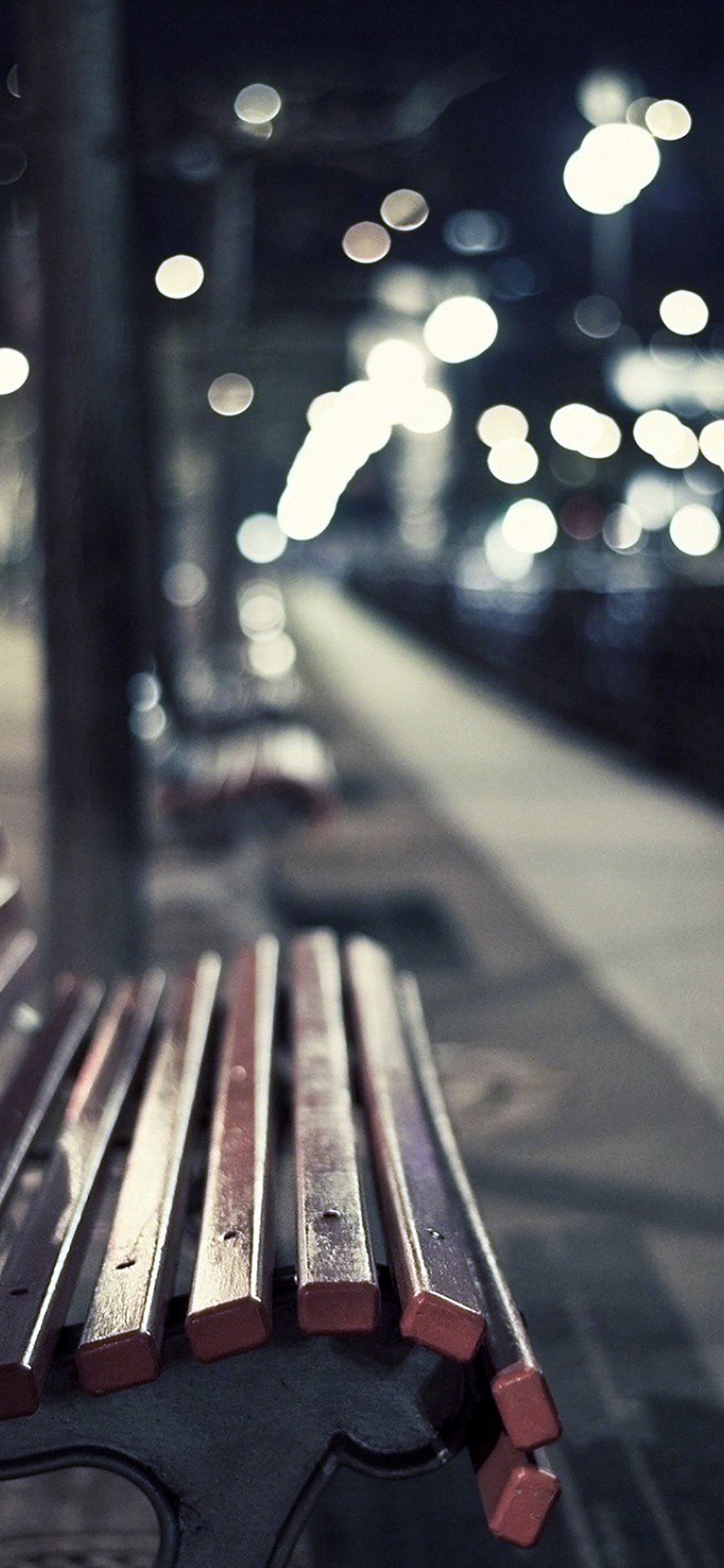 iPhoneXpapers.com-Apple-iPhone-wallpaper-mf78-street-chair-melancholy-night-lights-bokeh-city