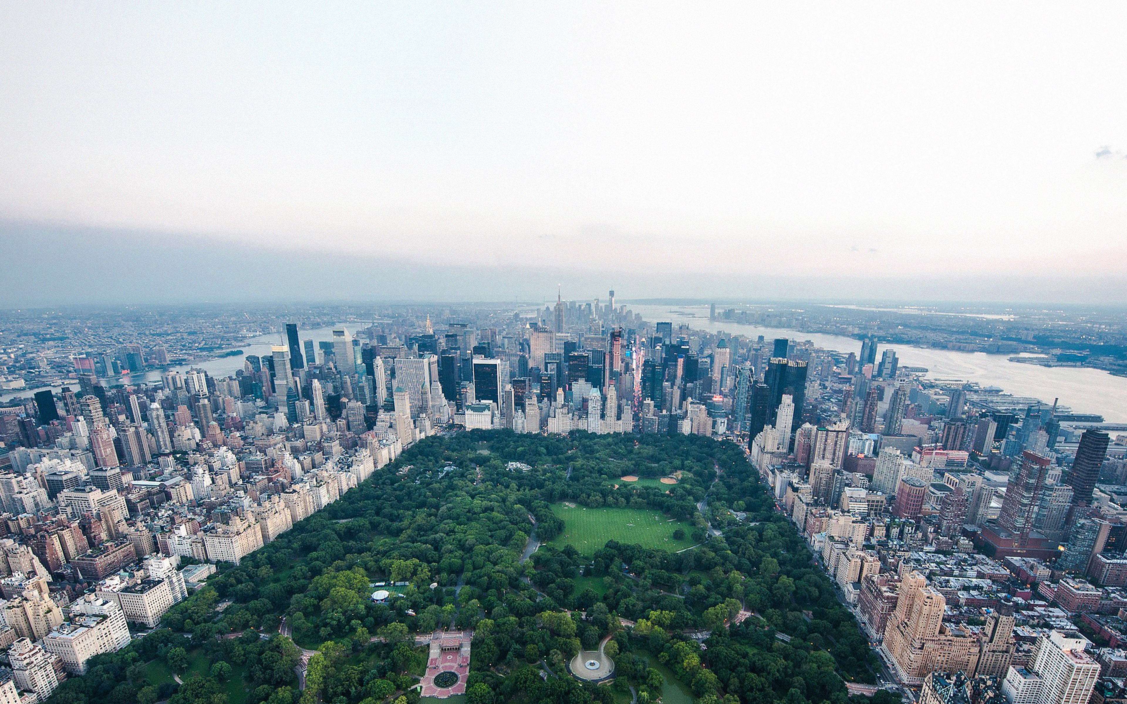 Mf82 New York Central Park Skyview Nature City Papers Co