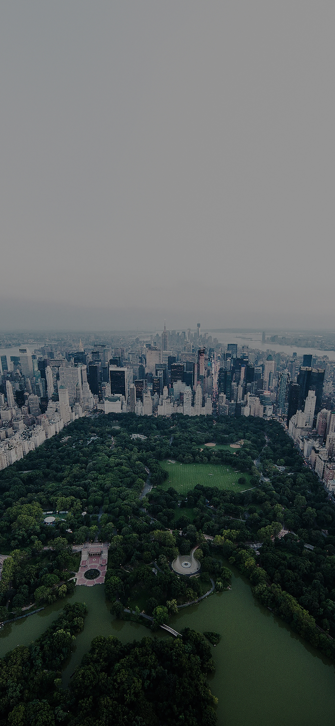 Iphonexpapers Mf83 New York Dark Central Park Skyview