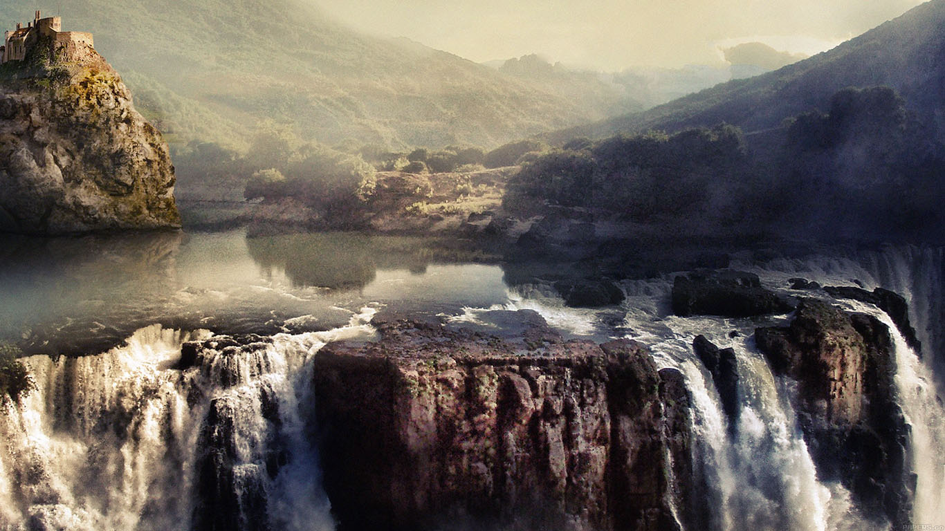 iPapers.co-Apple-iPhone-iPad-Macbook-iMac-wallpaper-mf84-paint-like-mountain-water-fall-nature-wallpaper