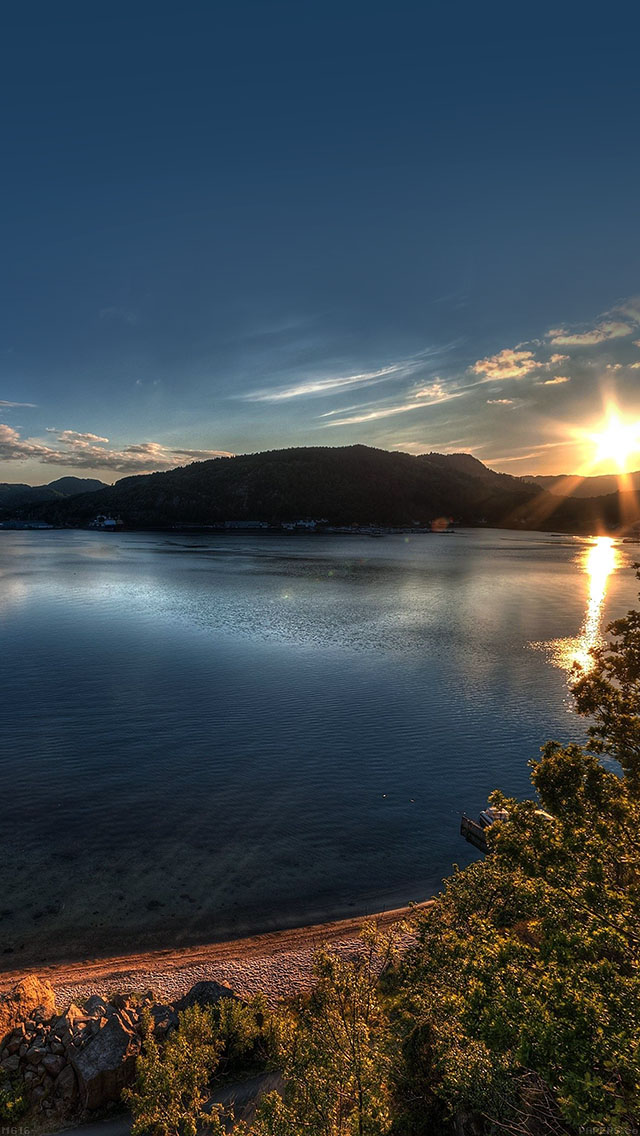 freeios8.com-iphone-4-5-6-ipad-ios8-mg16-lake-peace-sundown-nature