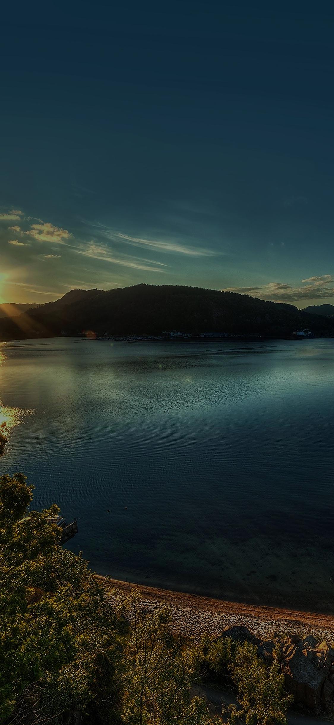 iPhoneXpapers.com-Apple-iPhone-wallpaper-mg17-lake-peace-lazy-sundown-nature