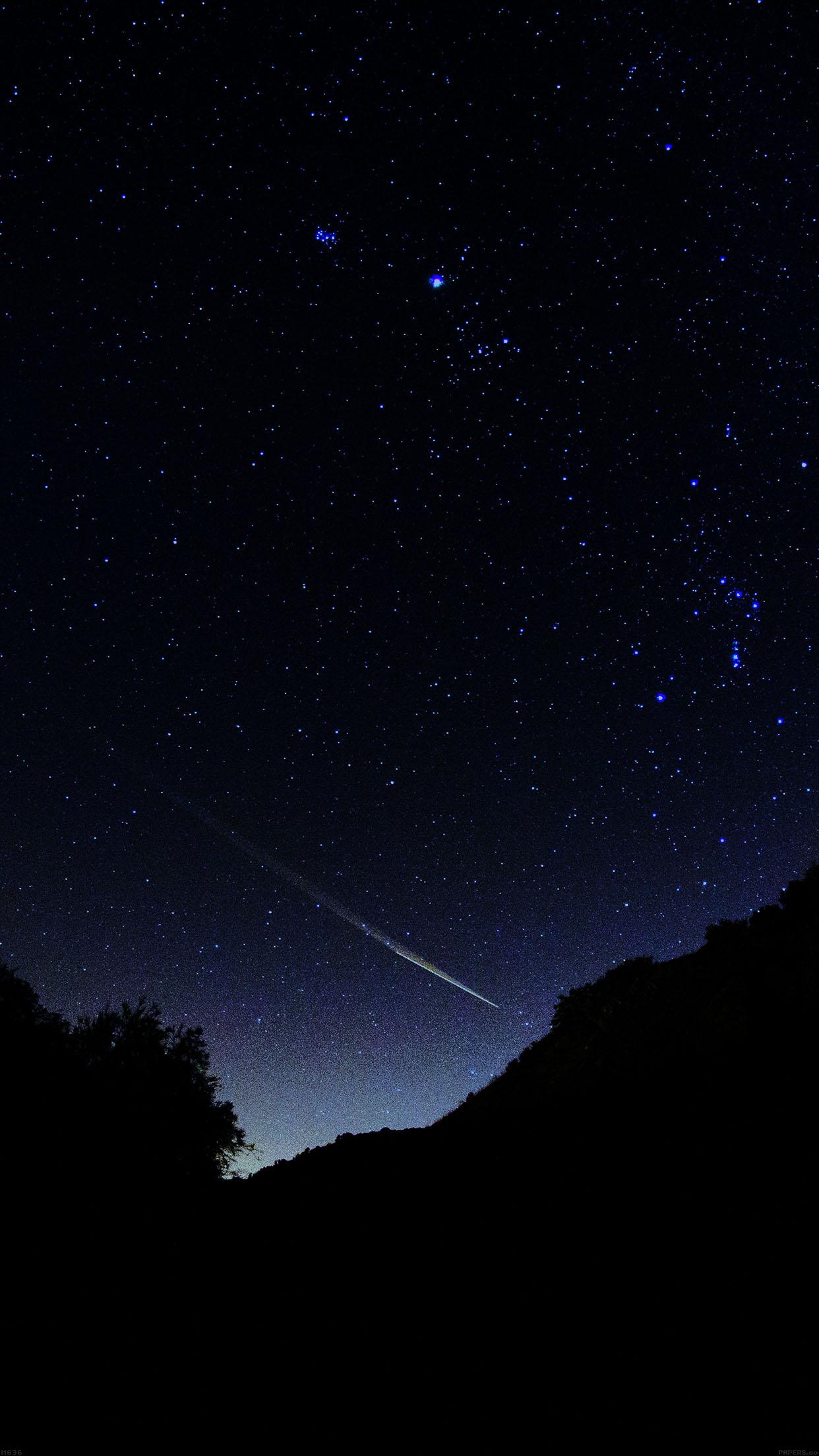 Free Night Sky Stars Iphone Wallpaper