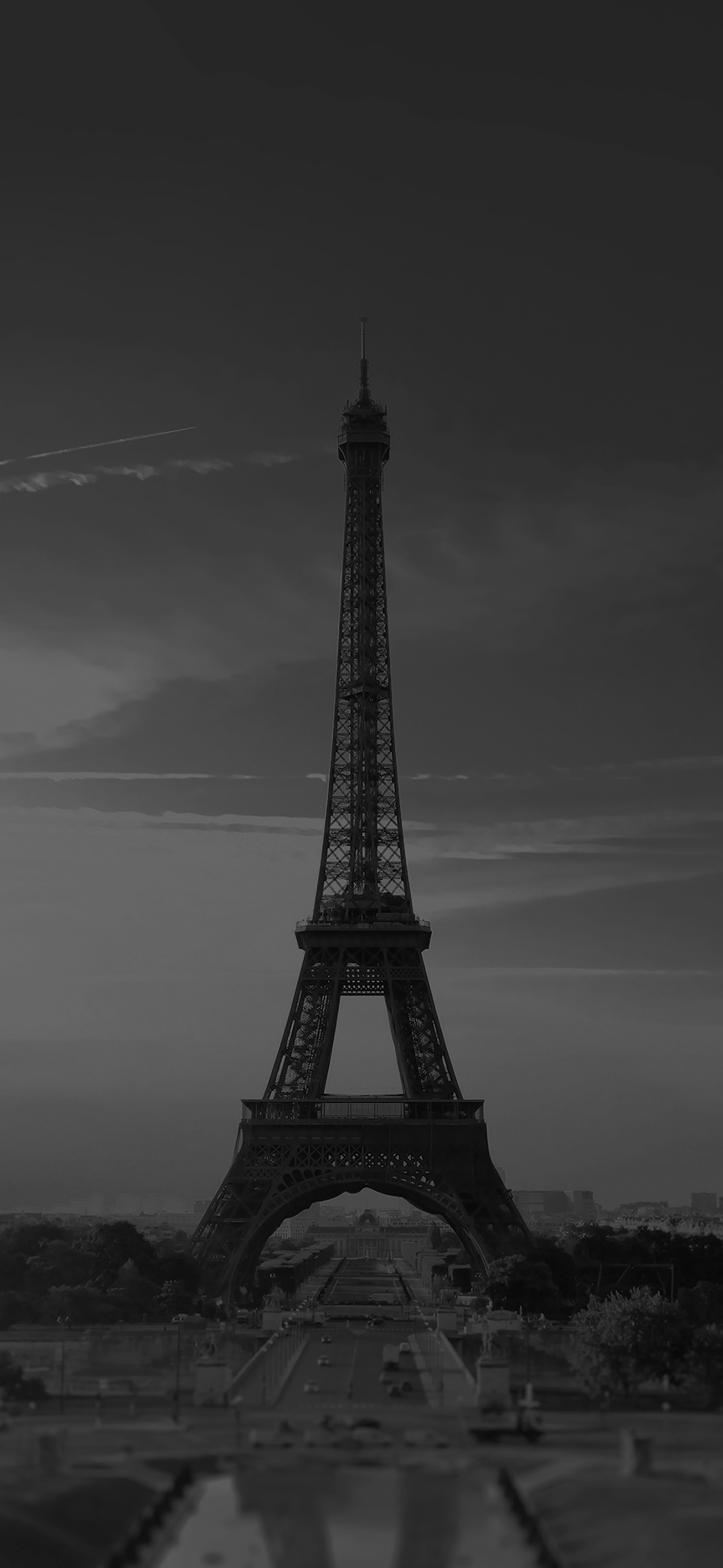 Mg41 City Of Love Paris Eiffel Tower France Black And White