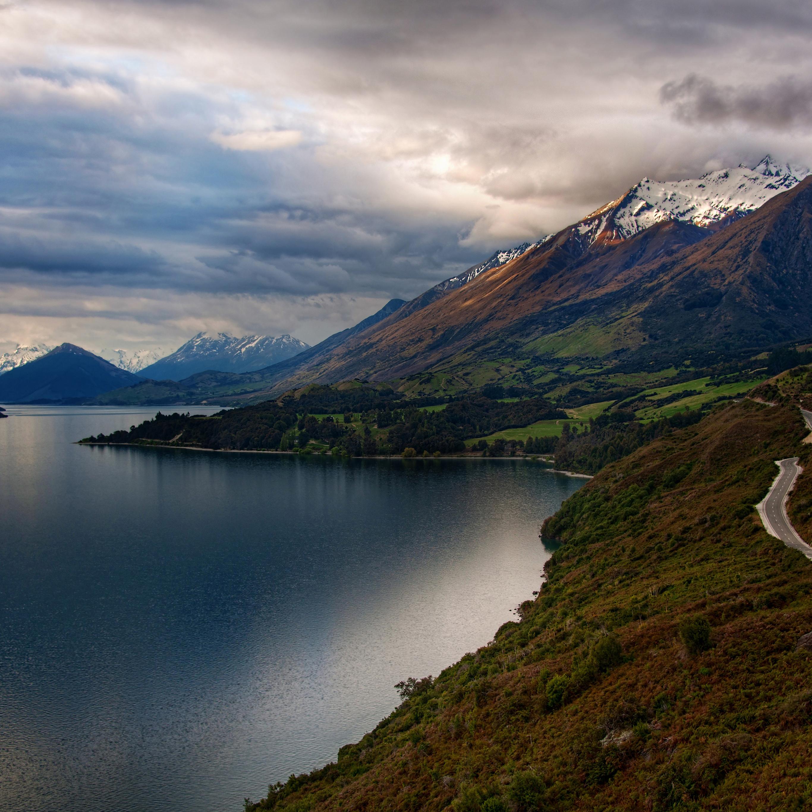 Mg56 Beautiful Road In World Mountain Lake Nature