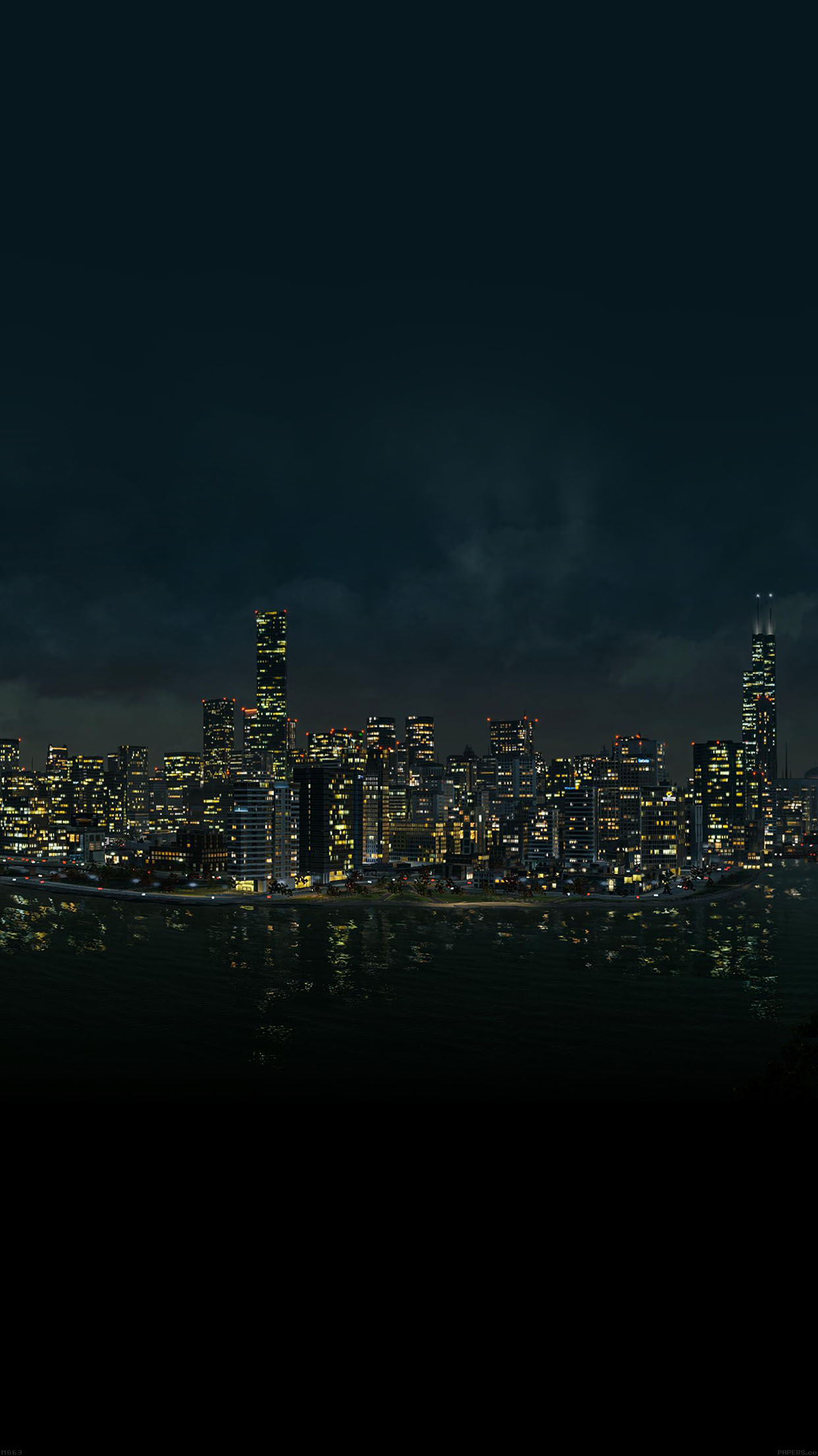 iPhone7papers - mg63-watchdog-night-city-view-from-sea