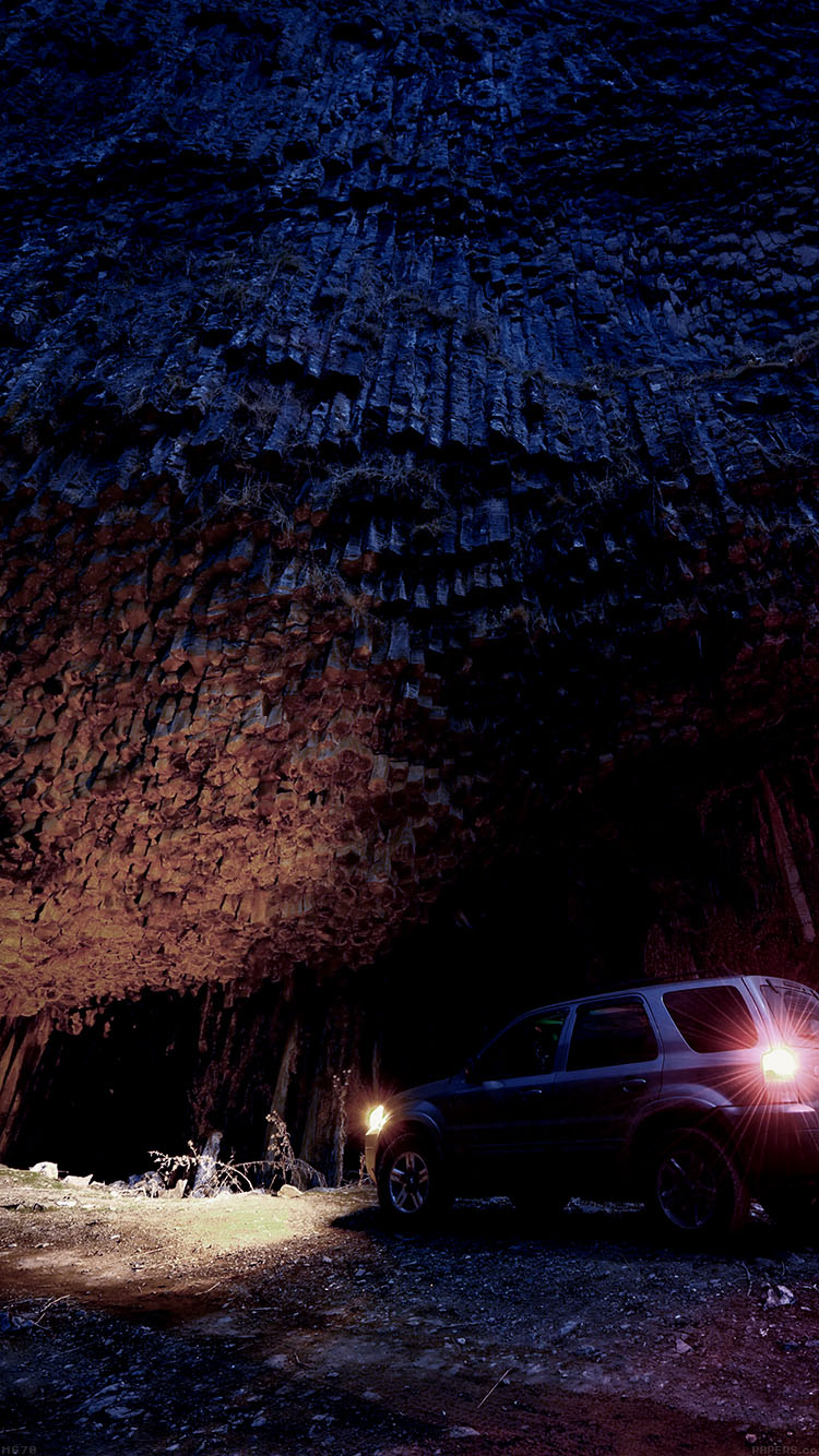 Papers.co-iPhone5-iphone6-plus-wallpaper-mg70-armenia-garni-late-night-wood-mountain-with-car-nature